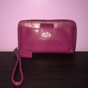 Coach wristlet and phone holder
